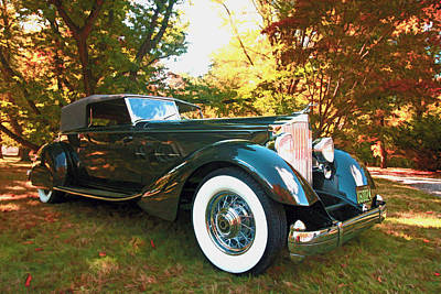 Photograph - 1934 Packard Dietrich Convertible Victoria by Allen Beatty