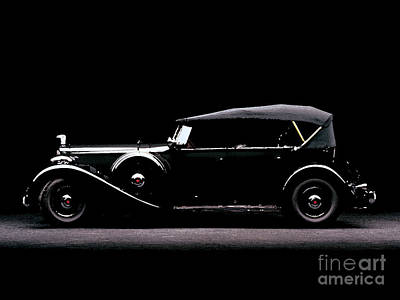 Pallet Knife Photograph - 1934 Packard Super Eight Cowl Phaeton Water Color Digital Art And Pallet Knife by R Muirhead Art