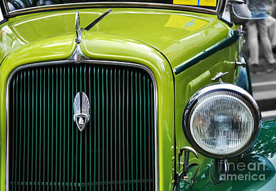 Photograph - 1934 Plymouth - Badge Grill Hood Ornament by Kaye Menner