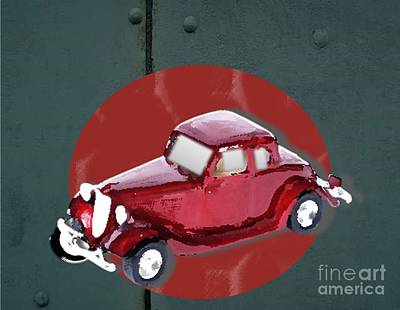 Painting - 1934 Plymouth Coupe by Belinda Threeths