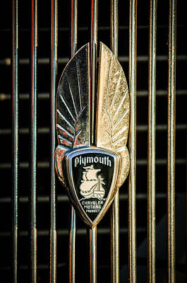 Hoodies Photograph - 1934 Plymouth Emblem by Jill Reger