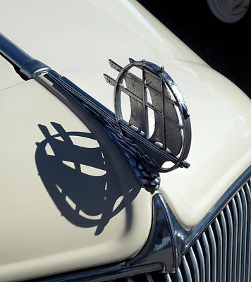 Auto Insignia Photograph - 1934 Plymouth Hood Ornament by Daniel Hagerman