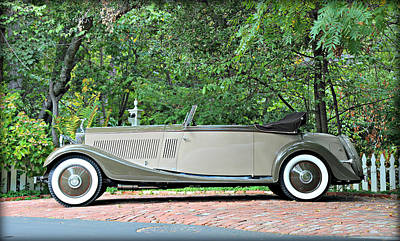 Photograph - 1934 Rolls Royce Kellner by Steve Natale
