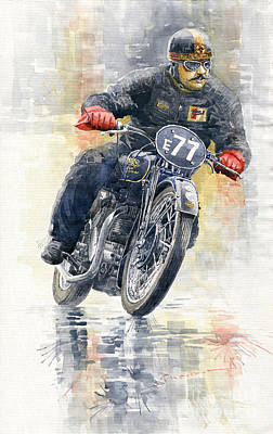 Painting - 1934 Rudge Ulster Grand Prix Model  by Yuriy Shevchuk