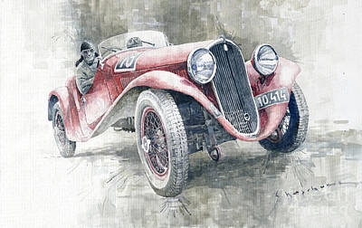 1934 Walter Standart S Jindrih Knapp 1000 Mil Ceskoslovenskych Winner  Original
