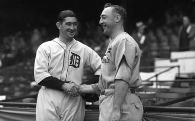 1934 World Series Captains Art Print