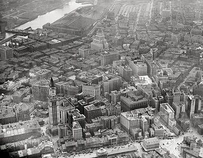Photograph - 1935 Aerial View Of Downtown Boston by Historic Image