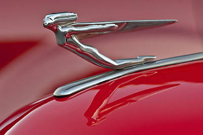 Photograph - 1935 Auburn Hood Ornament 2 by Jill Reger