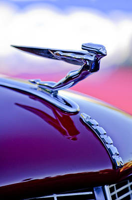Photograph - 1935 Auburn Hood Ornament 4 by Jill Reger
