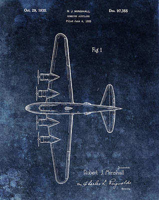 Airplane Mixed Media - 1935 Bombing Airplane by Dan Sproul