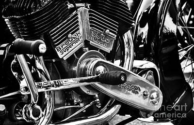 Photograph - 1935 Brough Superior Engine by Tim Gainey