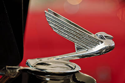 Hoodies Photograph - 1935  Chevrolet Eagle Hood Ornament by Jill Reger