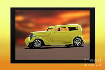 1935 Chevrolet Sedan Photograph - 1935 Chevrolet 'lemon Drop Sedan by Dave Koontz