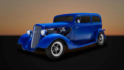 1935 Chevrolet Sedan Photograph - 1935 Chevrolet Standard 2-door Sedan  -  35chsd11 by Frank J Benz
