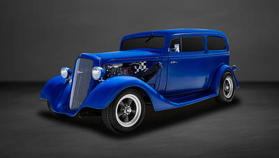 1935 Chevrolet Sedan Photograph - 1935 Chevrolet Standard 2-door Sedan  -  35chsd22 by Frank J Benz