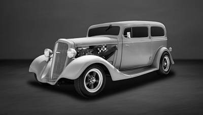 Photograph - 1935 Chevrolet Standard 2-door Sedan  -  35chsdbw33 by Frank J Benz