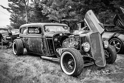 Photograph - 1935 Chevy Sedan Rat Rod by Ken Morris