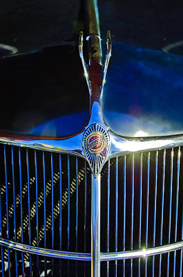 1935 Chrysler Hood Ornament 2 Art Print by Jill Reger