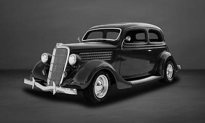 Photograph - 1935 Ford 2-door Sedan  -  35fdsdbw55 by Frank J Benz