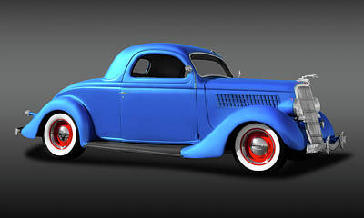 Photograph - 1935 Ford 3 Window Coupe  -  35ford3wincoupefa173496 by Frank J Benz