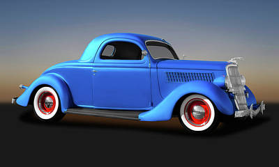 Photograph - 1935 Ford 3 Window Coupe  -  35ford3windowcoupe173496 by Frank J Benz
