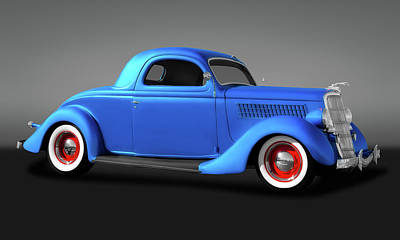 Photograph - 1935 Ford 3 Window Coupe  -  35ford3windowgry173496 by Frank J Benz