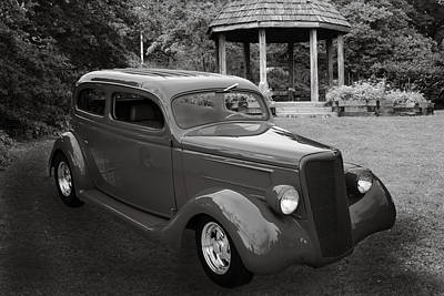 Photograph - 1935 Ford Classic Car Photograph Sepia 7151.01 by M K Miller