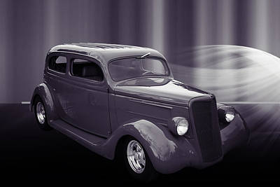 Photograph - 1935 Ford Classic Car Photograph Sepia 7152.01 by M K Miller