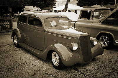 Photograph - 1935 Ford Classic Car Photograph Sepia 7157.01 by M K Miller