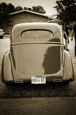 Photograph - 1935 Ford Classic Car Photograph Sepia 7163.01 by M K Miller