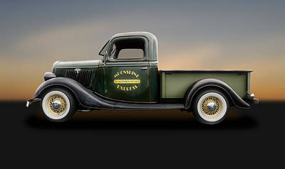 Photograph - 1935 Ford Pickup Truck   -   1935fdtrk450 by Frank J Benz