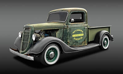 Photograph - 1935 Ford Pickup Truck  -  1935fdtrkfa9735 by Frank J Benz