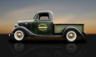 Photograph - 1935 Ford Pickup Truck   -   1935fdtrkrflt400 by Frank J Benz