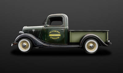 Photograph - 1935 Ford Pickup Truck  -  35fdtrk550 by Frank J Benz