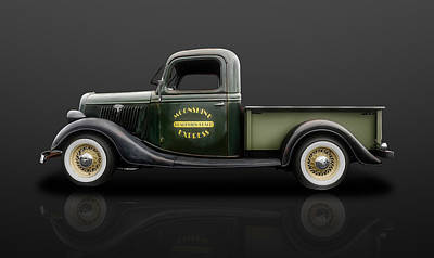 Photograph - 1935 Ford Pickup Truck  -  35fdtrkrflt500 by Frank J Benz