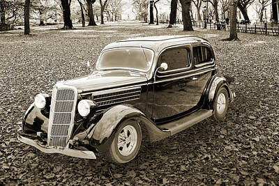 Photograph - 1935 Ford Sedan Vintage Antique Classic Car Art Prints 5051.01 by M K  Miller