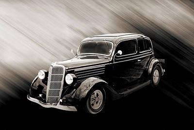 Photograph - 1935 Ford Sedan Vintage Antique Classic Car Art Prints 5054.01 by M K  Miller