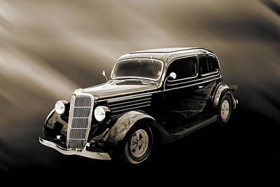 Photograph - 1935 Ford Sedan Vintage Antique Classic Car Art Prints 5055.01 by M K  Miller