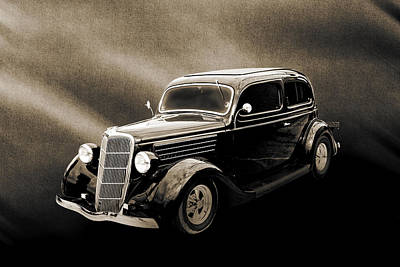 Photograph - 1935 Ford Sedan Vintage Antique Classic Car Art Prints 5056.01 by M K  Miller