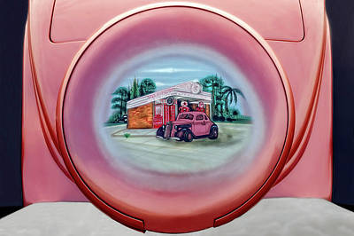 Photograph - 1935 Ford Spare Tire Cover Detail  -  1935fordsparetirecoverdetail183698 by Frank J Benz