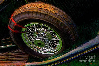 Photograph - 1935 Lincoln K Convertible Spare Tire by Blake Richards
