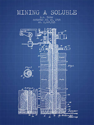 Machinery Digital Art - 1935 Mining A Soluble Patent En39_bp by Aged Pixel