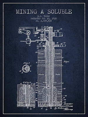Minerals Digital Art - 1935 Mining A Soluble Patent En39_nb by Aged Pixel