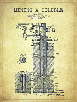 Minerals Digital Art - 1935 Mining A Soluble Patent En39_vn by Aged Pixel