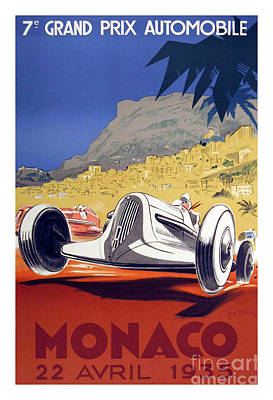 Race Cars Photograph - 1935 Monaco Grand Prix by Jon Neidert