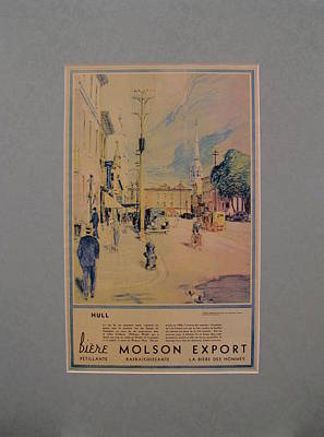 Montreal Cityscapes Drawing - 1935 Original Montreal Canadian La Presse Newspaper Advertisement, Hull by James Crockart