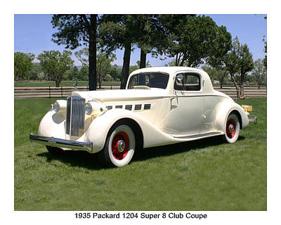 Photograph - 1935 Packard 1204 Super 8 Club Coupe by Jack Pumphrey