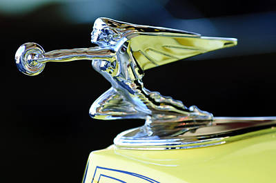 1935 Packard Hood Ornament Art Print