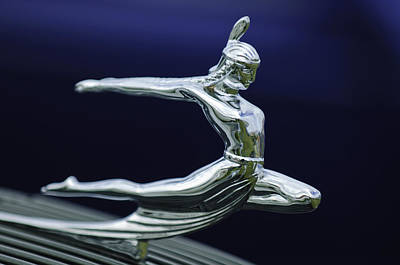 1935 Pontiac Hood Ornament Art Print
