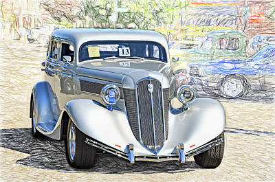Photograph - 1935 Studebaker by David Lawson